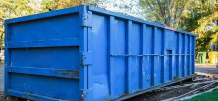 image of a 40 foot dumpster rental from the dumpster rental marketers